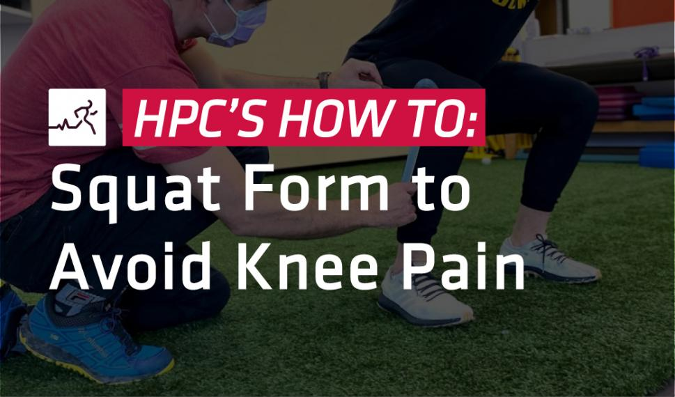 Squat form to avoid injury