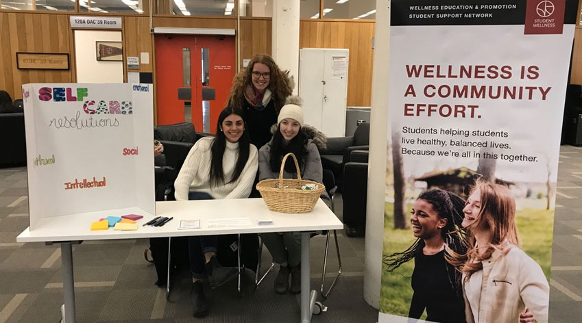 Volunteers promoting wellness