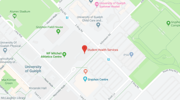 Map to Student Health Services